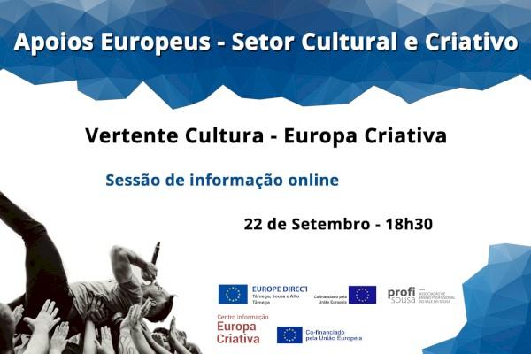 Sessão informativa online Europa Criativa - Cultura, 22 de Setembro