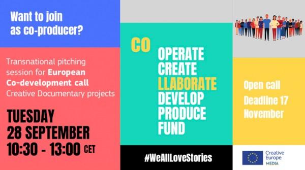 MEDIA European Co-development Documentários – Encontre um parceiro: Inscrições até 26 de Setembro